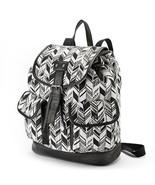 Mudd Black and White Arrow Backpack Bookbag School Bag - NWT - $53.09