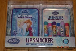 Disney Frozen 7 piece Lip Smacker Flavored Balm Set in Tin Elsa Olaf Anna - NIP - $22.41