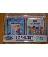 Disney Frozen 7 piece Lip Smacker Flavored Balm Set in Tin Elsa Olaf Ann... - $22.41