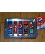 Pepsi 5 Flavored Lip Gloss Balm Set in Tin - NEW - $15.33
