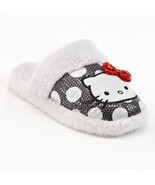 Hello Kitty Plush Dotted Sequin Slippers Womens Juniors 5/6 7/8 - NWT - $20.52