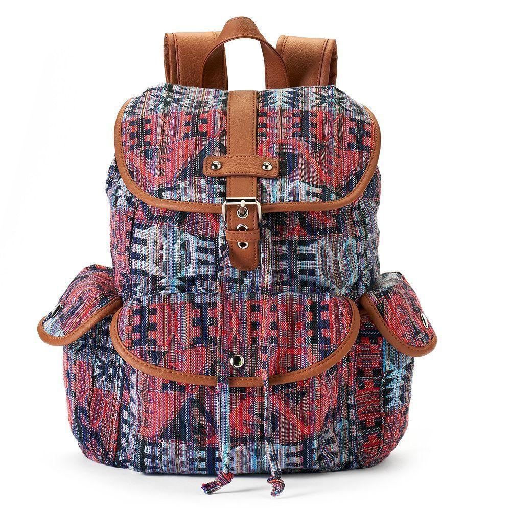 Mudd Brennan Tribal Print Backpack School Book Bag Nwt