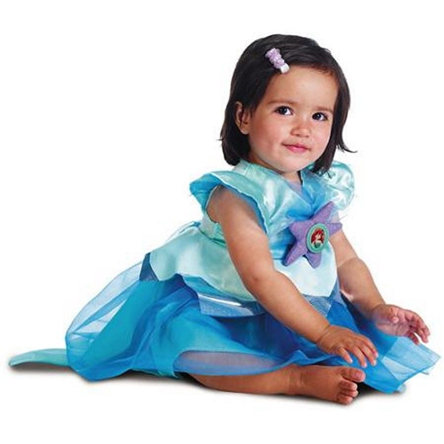 Disney Ariel The Little Mermaid Toddler Dress Girl's Halloween Costume 2T -NEW