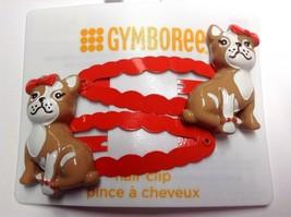 Gymboree Prep Perfect Line Dog Puppy NWT Barrette Snap Clip Orange Bulldog Frenc - $12.95