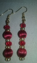 Artisan Handmade Red Silk Wrapped Glass Crystal... - $7.99