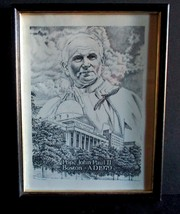 Boston Pope John Paul Visit Commemorative Drawing Print - $4.99