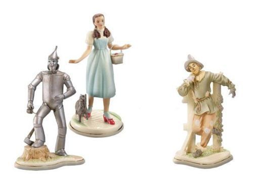 Lenox Dorothy Tin Man Scarecrow Toto Figurines Set Of 3