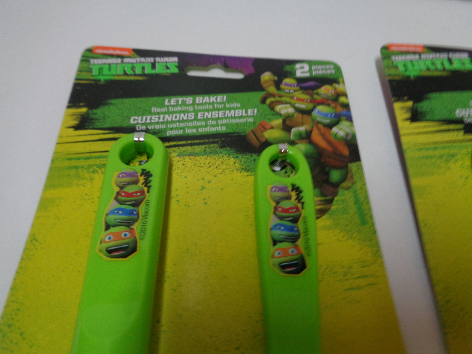 ZAK Toy Baking Set Ninja Turtle NIB 7 Piece Decorating Cooking BPA Free