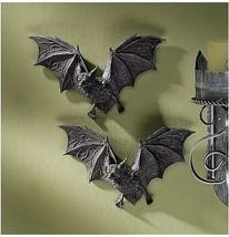 Set of 2: Count Dracula Vampire Bats Halloween Decoration Wall Sculpture... - £16.40 GBP
