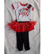 2 Piece Girls Outfit DDG Darlings 12M Love Hear... - $14.85