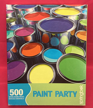 Springbok jigsaw puzzle Paint Party 500 piece 1JIG02326 bright colors 2005 htf - $8.00