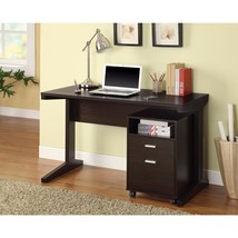 2-Piece Desk Set with Rolling File Cabinet, Brown - $558.87