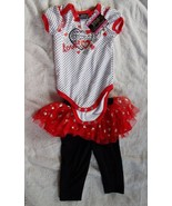 2 Piece Girls Outfit DDG Darlings 6/9M Love One... - $14.80