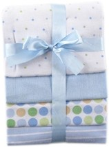 Blenders (Countertop) Luvable Friends Flannel Receiving Blankets Blue 4 ... - $18.40