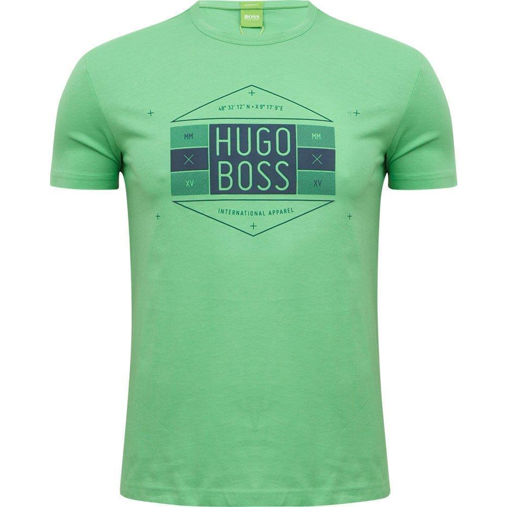 NEW MEN'S HUGO BOSS SHORT SLEEVE CREW NECK T-SHIRT SHIRT LIME 50290132 size 2XL