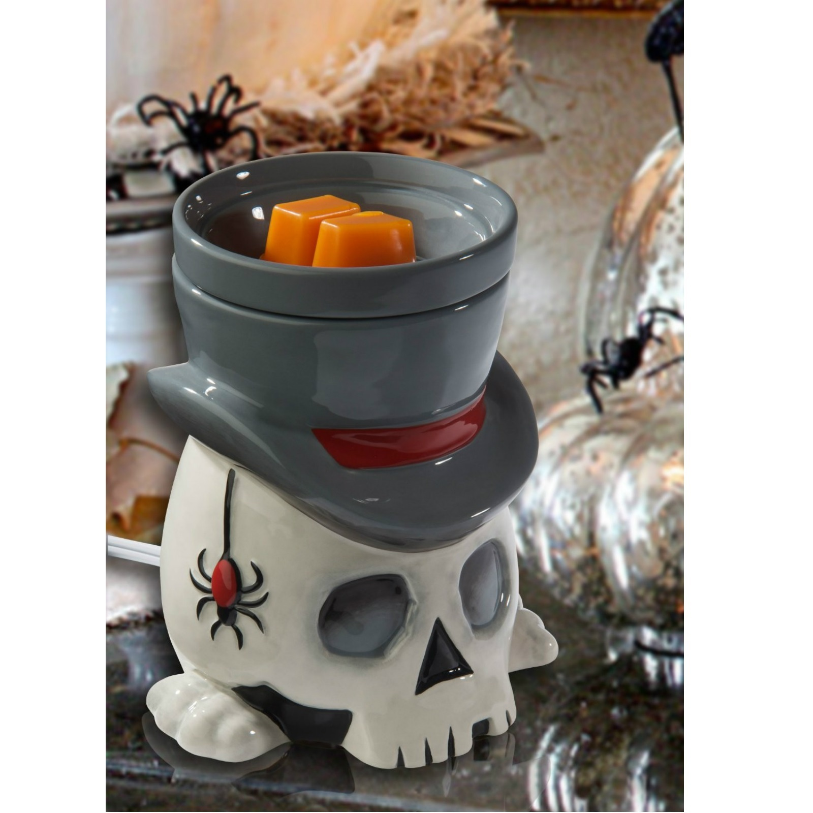 Melts And Warmer ~ Full size wax warmer candle electric scented melts skull