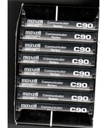 Audio Cassette Tapes- Box of 10  Maxell Pofessional Industrial Tape  Cas... - $9.95