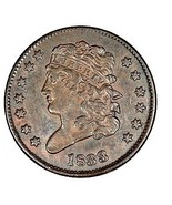 1833 Classic Head, one half Cent in superior condition, and Fast shipping - £2.96 GBP