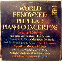 Lot 2 George Greeley LP's The Best of & World Renowned Piano Concertos V... - $8.79