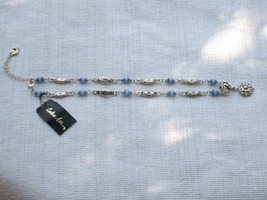 Cookie Lee Blue Cat's Eye & Antiqued Silver Necklace - Item #48007 - New! image 4