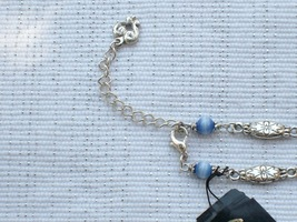 Cookie Lee Blue Cat's Eye & Antiqued Silver Necklace - Item #48007 - New! image 5