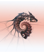 Remains of the Dragon, Fractal Based Digital art.  Size 11x1 - $24.99