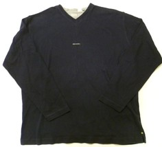 HUGO BOSS Sport V-Neck Mens XL Sweater Sweatshirt Cotton Blue Soft - $24.99