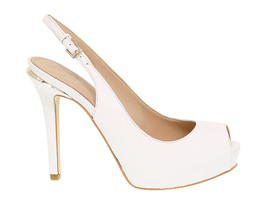 Heeled sandal GUESS FL6HRL in white leather - Women's Shoes - $117.99