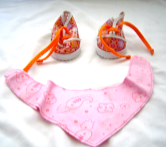 """Orange Floral Shoes and Pink Kerchief Fits 18"""" Doll American Girl Our Ge... - $9.99"""