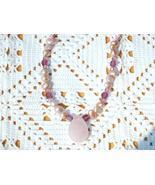 Cookie Lee Genuine Rose Quartz, Pearl & Crystal Choker - Item #89247 - New! - $13.00