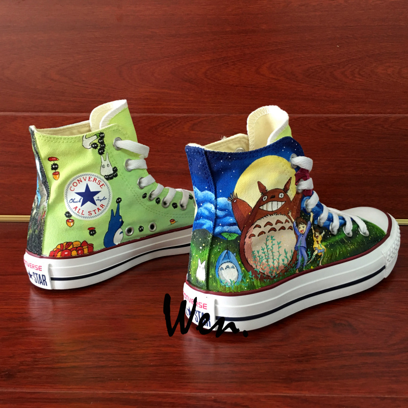 Top Hand Painted Shoes Anime My Neighbour Totoro Converse All Star Sneakers
