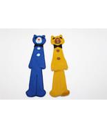Lot of 2 - Felt Bear Book Mark- Yellow Blue - $12.87