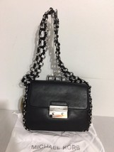 Michael Kors Piper Large Flap Shoulder Bag Style # 30S7SP1F3L, Black - $146.52
