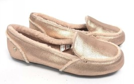 UGG Australia Hailey Metallic Rose Gold Sheepskin Suede Loafers 1020029 Shoes ~ - $79.99