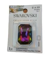Swarovski Create your style Crystal vitrail Medium 27x18.5mm Octagon Fan... - $13.99