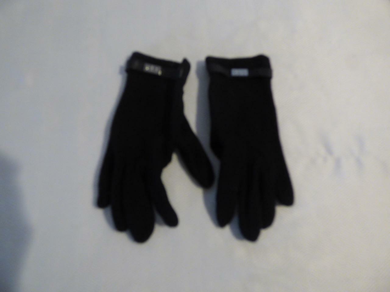 Lauren Ralph Lauren Women's Wool Blend Tech Friendly Knit Gloves, Black, S