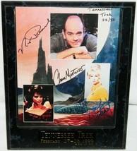 Star Trek Robert Picardo Grace Lee Whitney Chase Masterson Autograph Photo 1999 - $169.30