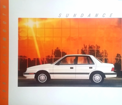 1987 Plymouth SUNDANCE sales brochure catalog US 87 Turbo - $6.00