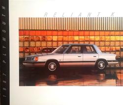 1987 Plymouth RELIANT sales brochure catalog US 87 K LE - $6.00