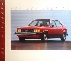 1987 Plymouth HORIZON AMERICA sales brochure catalog US 87 - $6.00