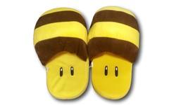 Nintendo Super Mario BEE Plush Slippers Shoes Yellow Household - £6.84 GBP