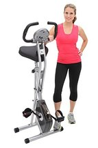 Cardio Equipment Exercise Bike Exerpeutic Folding Magnetic Upright with ... - $206.56