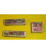 Lot of 3 Rubber Stamps Floral Border Designs Used Sky Kids - $3.00