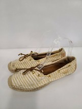 Sperry Top Sider Katama STS91695 Womens Shoes Size 8.5 Tan Gold Stripe Flat - $35.99