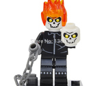 1 pcs Ghost Rider DC Marvel Super Heroes Avengers Minifigures toys Blocks lego