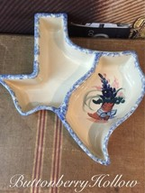 Vtg State of Texas Crockery Cocktail Serving Bo... - $12.86