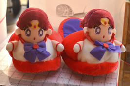 Sailor Mars plush stuffed slippers Japanese Saillor Moon R shoes 1993 - $19.79