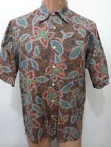 Reyn Spooner Mens M Multi-Color Hawaiian Floral Shirt Regency Cotton Lawn - $37.06