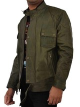 Wesley Gibson Wanted Mark Millar Green Leather Jacket image 2