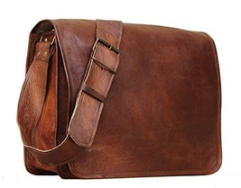 Men's Brown Leather Messenger Bag Vintage Retro Laptop Computer MESSENGE... - $50.83